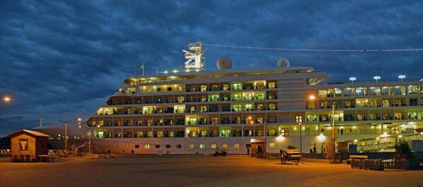 Die MS Silver Whisper in Saguenay in Québec in Kanada