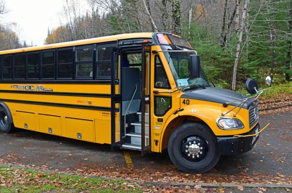 'Unser' Schulbus in Saguenay