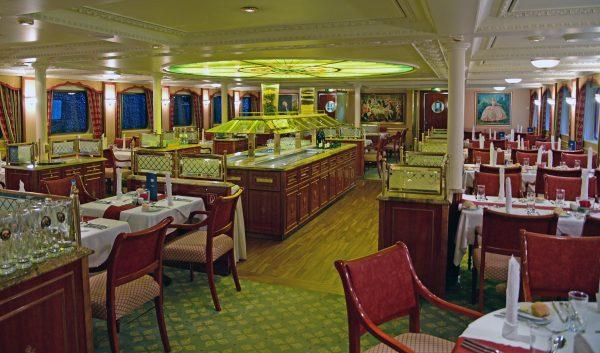 Das Restaurant der MS Casanova