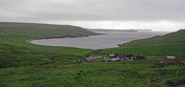 Blick auf Mainland Shetland, Schottland