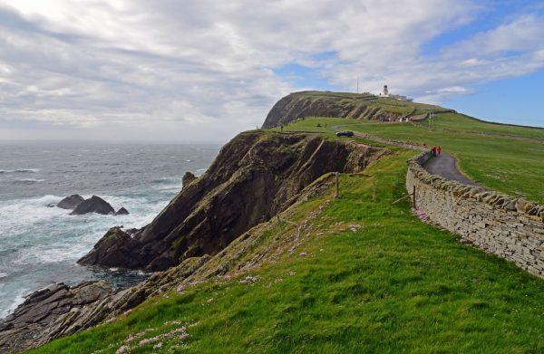 Das Sumburgh Head Cliff in Shetland, Schottland