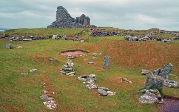 Der Jarlshof in Shetland, Schottland