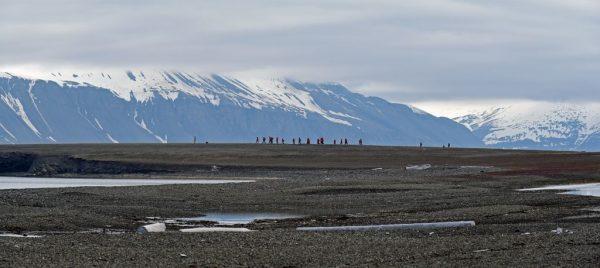 Wandern in Bamsebu, Spitzbergen