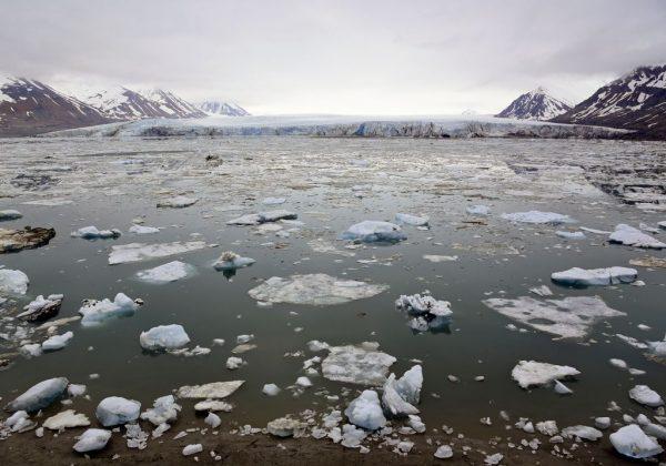 Der Gletscher Recherchebreen, Recherchefjorden, Spitzbergen