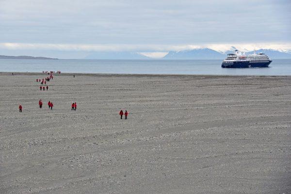 Auf dem Weg vom/zum Gletscher Recherchebreen, Recherchefjorden, Spitzbergen