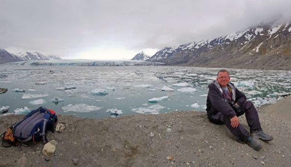 Zinni und der Gletscher Recherchebreen, Recherchefjorden, Spitzbergen