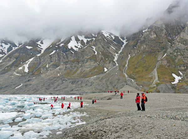 Der Strand von Recherchefjorden, Spitzbergen