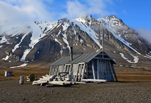Blick auf Bamsebu, Spitzbergen
