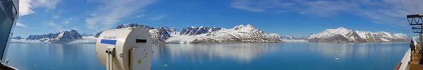 Panorama-Bild auf die Gletscher Monacobreen und Seligerbreen, Spitzbergen