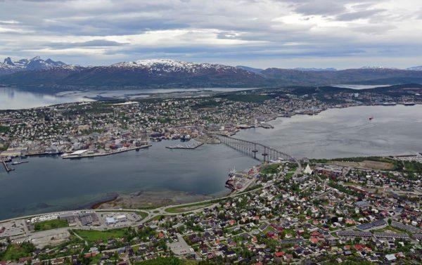 Blick auf Tromsø, Norwegen