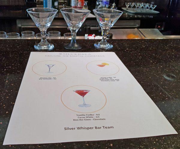 Ein Martini-Cocktail Vergleich auf der MS Silver Whisper
