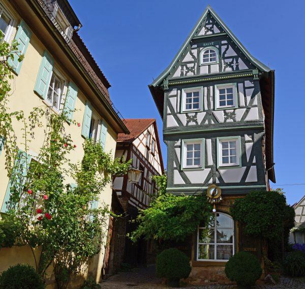 Ein Fachwerkhaus in Bad Wimpfen
