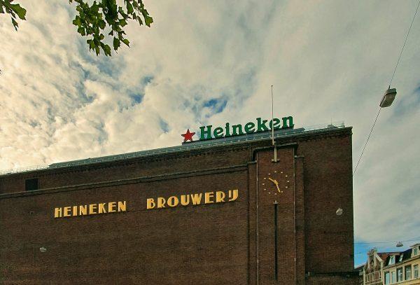 Die alte Heineken Brauerei in Amsterdam