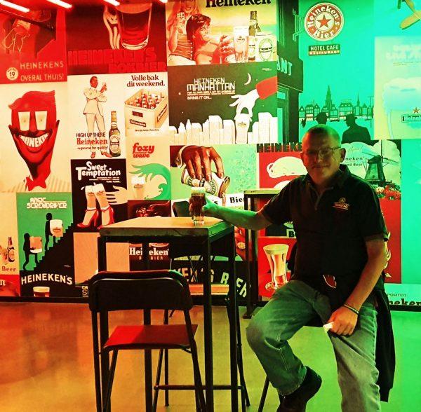 Zinni in der Heineken Experience in Amsterdam