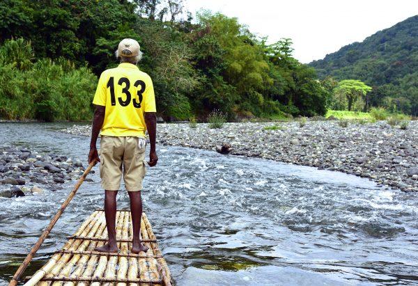 Pause auf der Rafting-Tour auf dem River Rio Grande / Jamaika