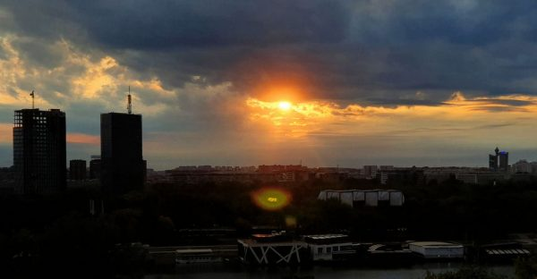 Sonnenuntergang in Belgrad