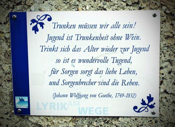 Ein Weinspruch von Goethe in Breisach