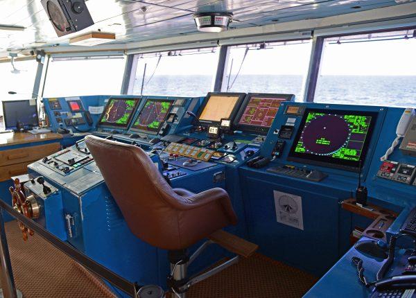 Die Brücke von der MS Silver Explorer