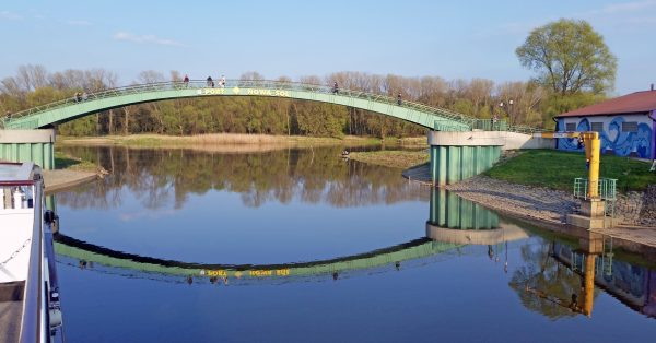 Eine Brücke in Neusalz