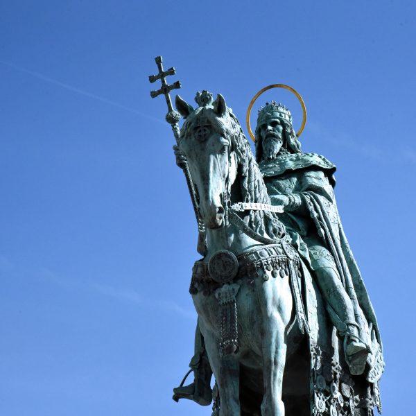 Statue von Stephan I. in Budapest