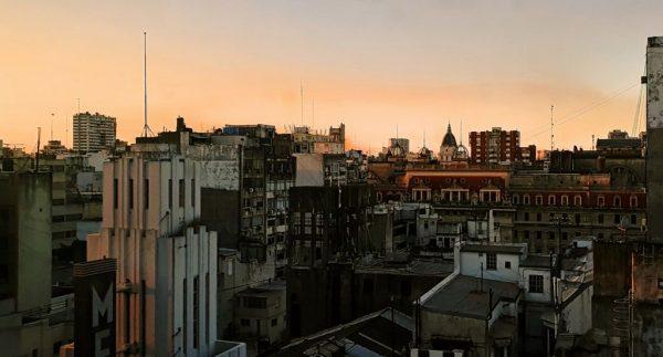 Aussicht vom Novotel in Buenos Aires