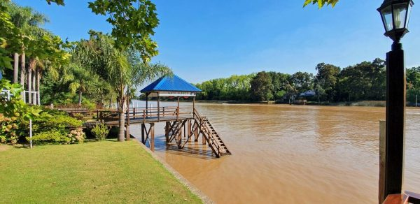 Das Restaurant 'Gato Blanco' im Tigre-Delta