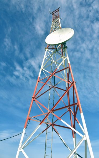Telekommunikation am Faro Corona auf Chiloé