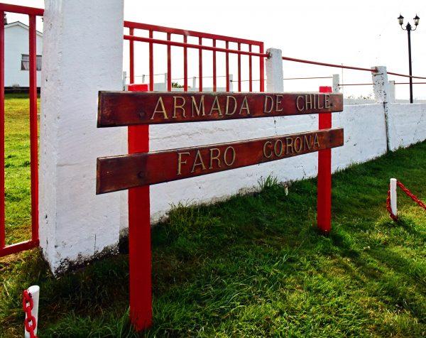 Der Eingang zum Faro Corona auf Chiloé