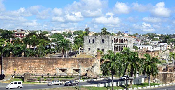 Blick auf die Altstadt von Santa Domingo
