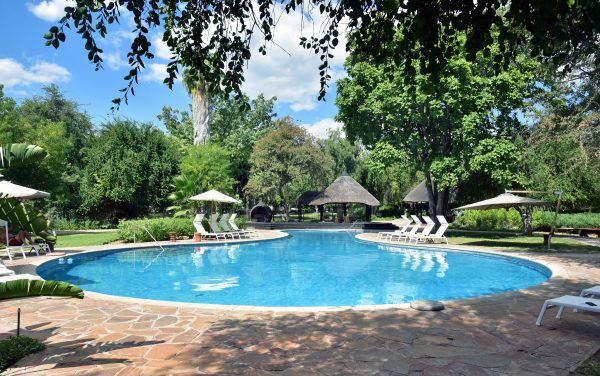Der Pool der Mokuti Etosha Lodge