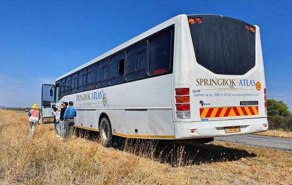 Panne auf dem Weg zum Etosha Nationalpark