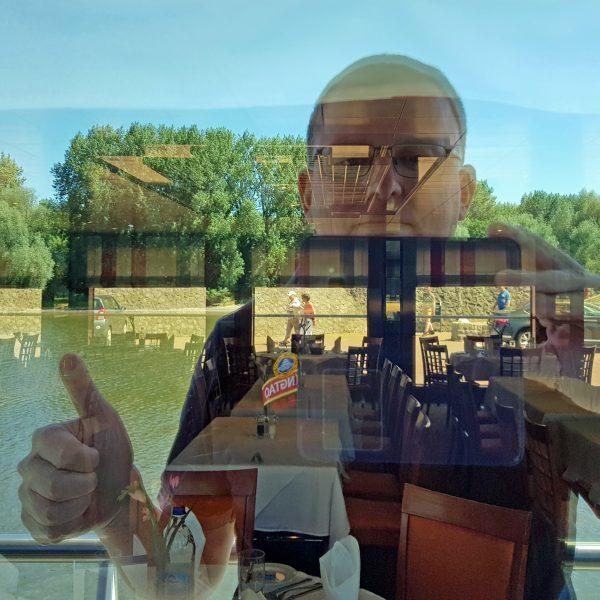 Der gespiegelte Zinni auf der MS Belvedere