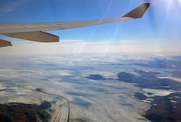 Auf den Flug von Kangerlussuaq nach Kopenhagen