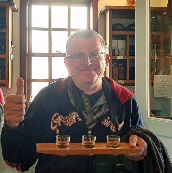 Zinni in der Destillerie von Haines