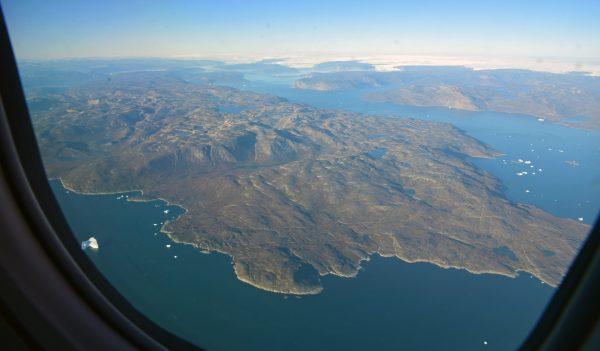 Auf dem Flug von Ilulissat nach Upernavik