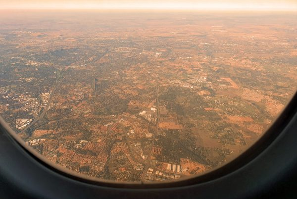 Anflug auf Johannesburg