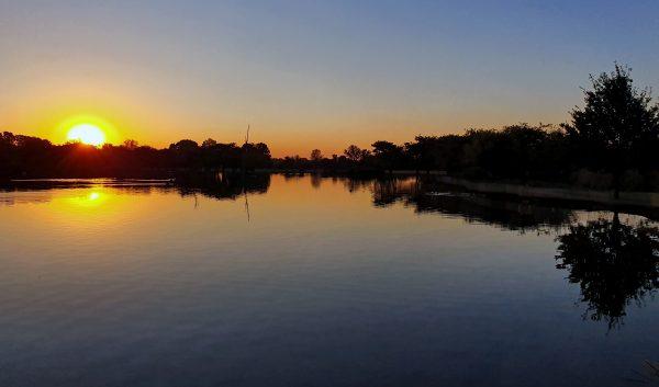 Sonnenuntergang in Irene Country