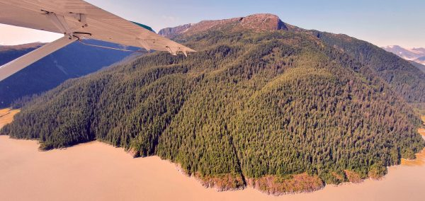 Die Landschaft nahe Juneau