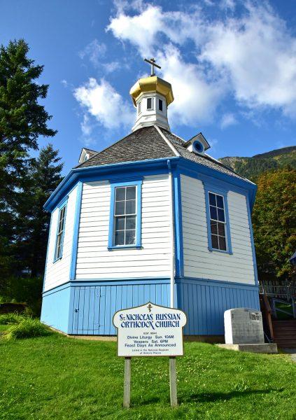 Die 'St. Nicholas Russian Orthodox Church' in Juneau