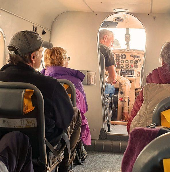An Bord der 'Wings Airways'