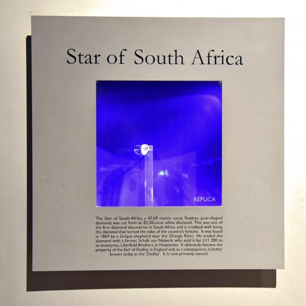 Diamanten im Big Hole Museum in Kimberley