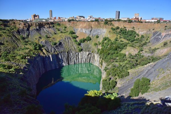 Blick auf 'The Big Hole' in Kimberley