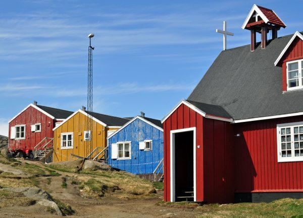 Die Kirche in Kulusuk im Osten von Grönland