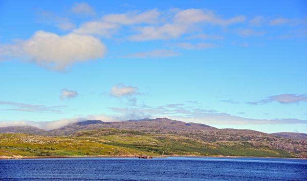 Eine norwegische Küstenlandschaft