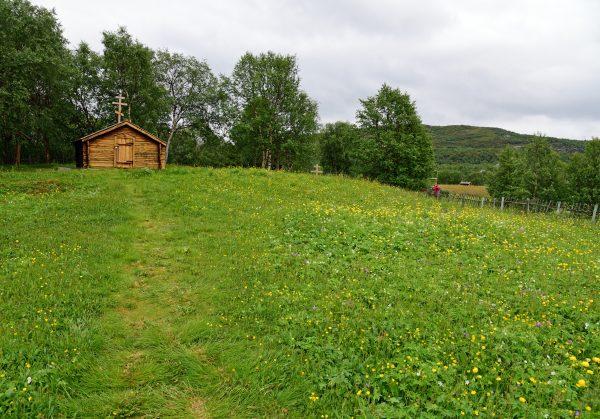 Die Kapelle 'Saint George' in Neiden / Norwegen