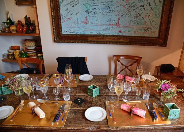 Unser Tisch im Restaurant G.A. / Manoir de Rétival