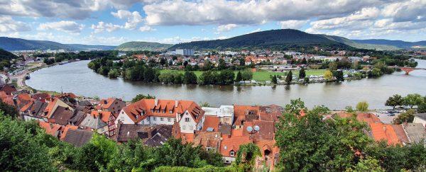 Blick von der Miltenburg auf Miltenberg