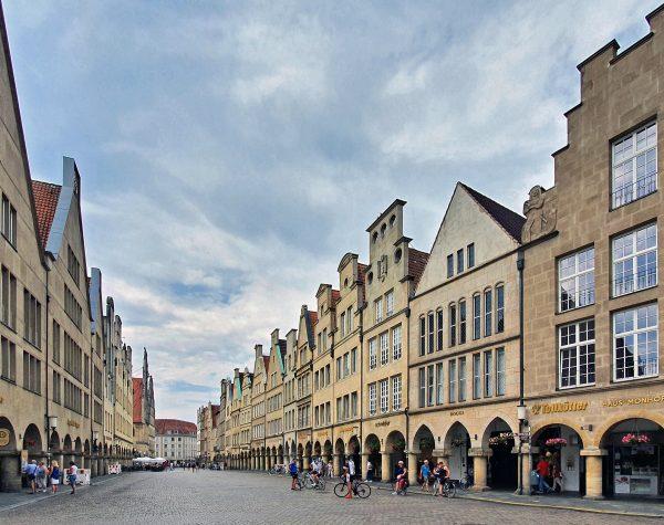 Der Bogengang des Prinzipalmarktes in Münster