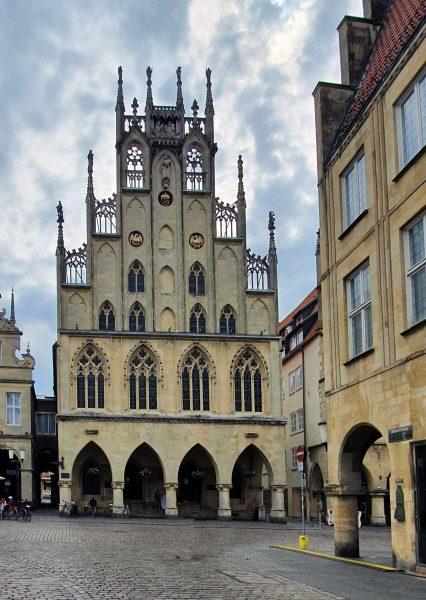 Das historische Rathaus von Münster