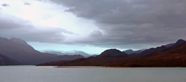 Die Landschaft in der Umgebung des Pio XI-Gletscher